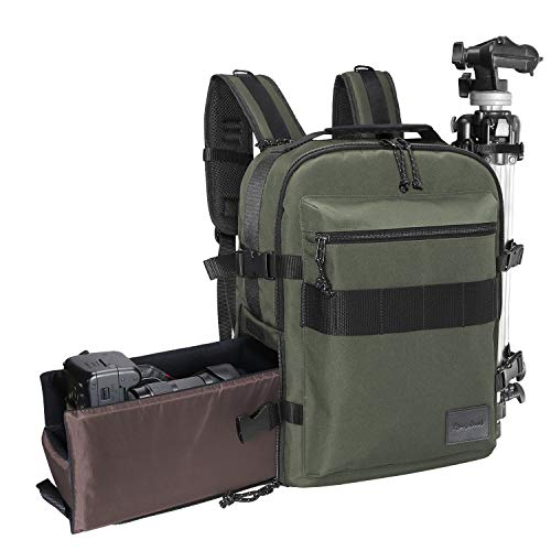 Rangeland Compact Travel Carry-on Camera Backpack for Photographers for DSLR, Mirrorless Cameras, Laptop, Passport, Tripod, Accessories,Personal Items