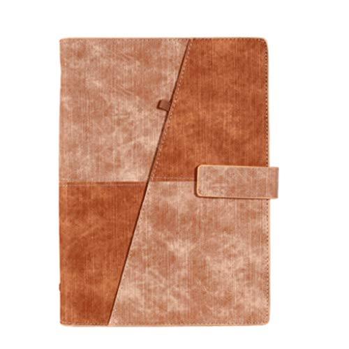 QIFFIY Cuaderno Creative Journal Diary Bloc de Notas Instalado Business Books School A5 Planner Organizer Office Notebook (Color : Brown)
