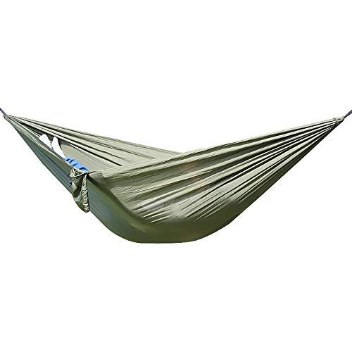 HUOHUO Hamac extérieur élargi Parachute Tissu Ultra léger Hamac moustiquaire Camping intérieur Swing-Orange Hamac Gris