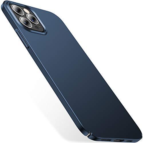CASEKOO Ultra Dünn Kompatibel mit iPhone 12 Pro Max Hülle Slim Handyhülle Mattem Finish Hülle with Kratzfest Schutz Hard PC Back 6,7 Zoll 5G 2020- Pazifikblau