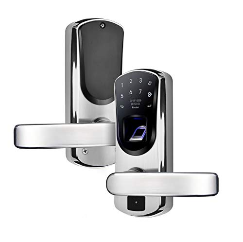 WeJupit V8 Smart Fingerprint Door Lock with Right Handle,...