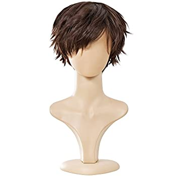 Ecvtop Wigs for Mens  Death Note Male Short Hair Wig Costume Cosplay Wigs  Light Brown