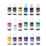 Pintura de resina epoxi, colores de resina UV – Cristal transparente epoxi para coloración de resina UV, fabricación de joyas, pigmento concentrado de resina UV para colores, artesanía, 10 ml