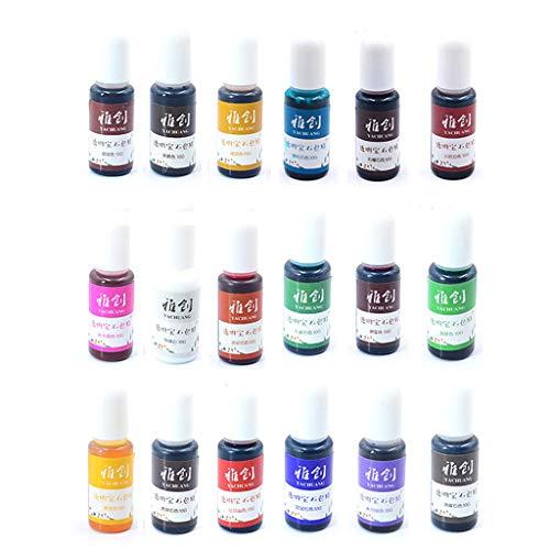 ZJL220 18 colores de resina epoxi pigmento resina líquida colorante pigmento resina colorante resina resina resina para creación de joyas artesanales instrumentos