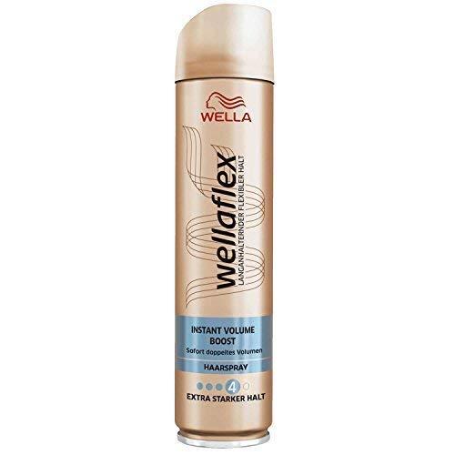 Wellaflex Haarspray Instant Volume Boost, Extra Starker Halt, 4er Pack (4 x 250ml)