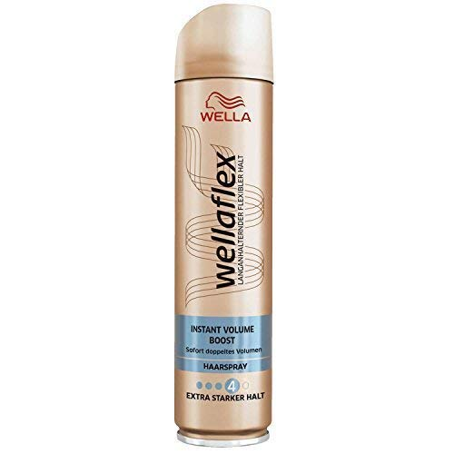 Wellaflex Haarspray Instant Volume Boost, Extra Starker Halt, 2er Pack (2 x 250ml)