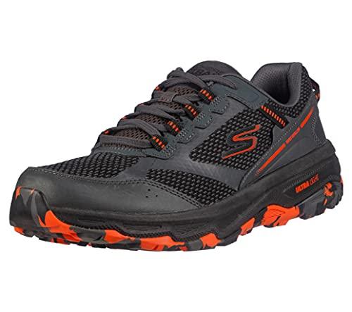 Skechers Zapatillas de Senderismo Go Run Altitude para Hombre, con Espuma refrigerada por Aire, Carbón/Naranja/Negro, 8.5 US