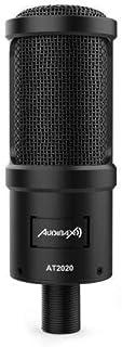 Audibax AT2020 - Kit Micrófono PC Profesional Condensador, Mínimo Ruido de Manejo, Ideal para Estudio de Grabación, Gran R...