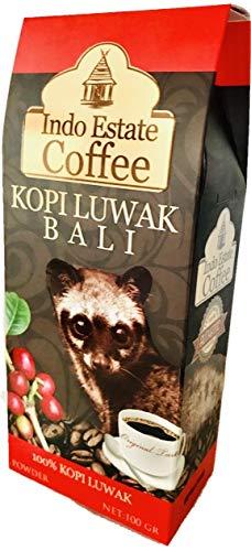 高級コーヒー豆 コピルアック KOPI LUWAK BALI コピ・ルアク バリ [Indo Estate Coffe] (粉状・細挽き/100g)