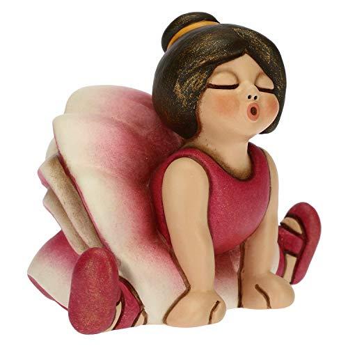 THUN - Soprammobile Bimba Ballerina con tutù Rosa - Bomboniere e Accessori Cameretta - Linea Cerimonia - Formato Piccolo - Ceramica - 6,6 x 4,5 x 5 h cm