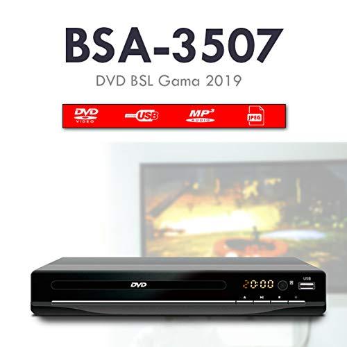 puissant Lecteur DVD BSL pour le salon.  Avec un lecteur multimédia USB compatible avec plusieurs formats audio…