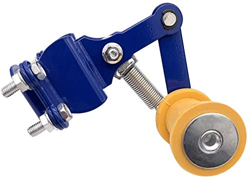 ASDZ Universalmotorrad-Kettenspanner Teller Automatische Regler for Yamaha H0NDA Ducati Aprilia Su.zuki Dirt Bike Gelb + Blau 1 STK Gute Qualität (Color : Blue+Yellow)