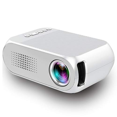 JCSW Proyector, Proyector WiFi, Mini Proyector Portátil Soporte Full HD 1080P, 5000 Lúmenes Proyectores Home Cinema, Compatible con TV Stick, PS4, USB, HDMI, SD, AV, Blanco. Q001JY (Color : White)