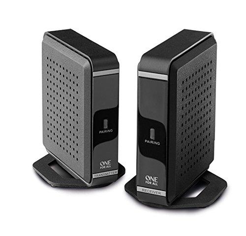 One For All SV1760, Transmisor de señal HDMI inalámbrico, transmite audio y vídeo en Full HD en un rango de 30 metros, negro