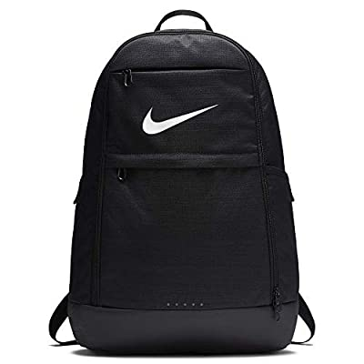 Nike Brasilia Training Backpack, Extra Large Backpack Built for Secure Storage with a Durable Design, Black/Black/White