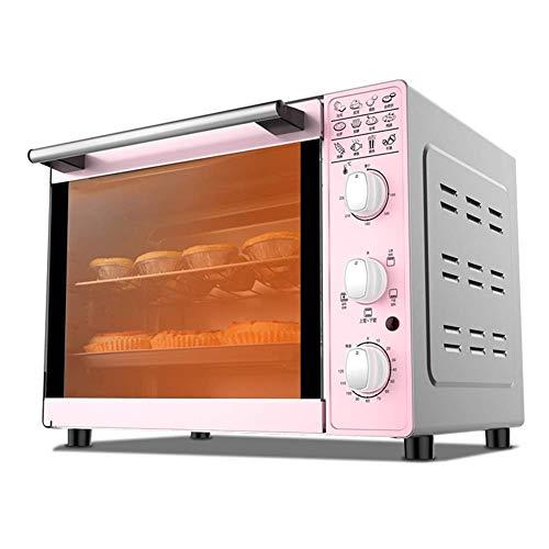 Hogar y cocina Horno Sobremesa Mini horno tostador, Capacidad 33L, horno de mesa tostadas casera de la cocina, 1600w Potencia de Cocción, cuatro tubos de Arriba y Abajo Control de Temperatura