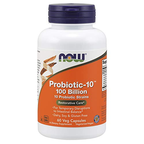 commercial NOW supplements, probiotics 10,100 billion, probiotics 10 strains, veggie cap 60 tablets probiotics 100 billion