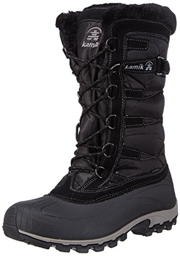 Kamik Women's Snowvalley Winter Snow Boot ,Black BK2,9 M US