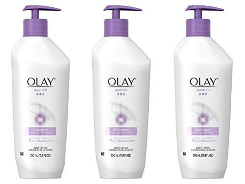 Body Lotion by Olay, Quench Shimmer Body Lotion Pump 11.80 oz (Pack of...