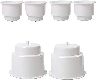 feiteng 6-Pack White Plastic Cup Drink Holder 3.515'' Size Bottle for Marine Boat RV Camper Insert