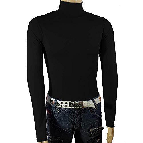 Camiseta Gola Alta Témica Proteção Uv Manga longa Poliéster tamanho:g;cor:azul-escuro