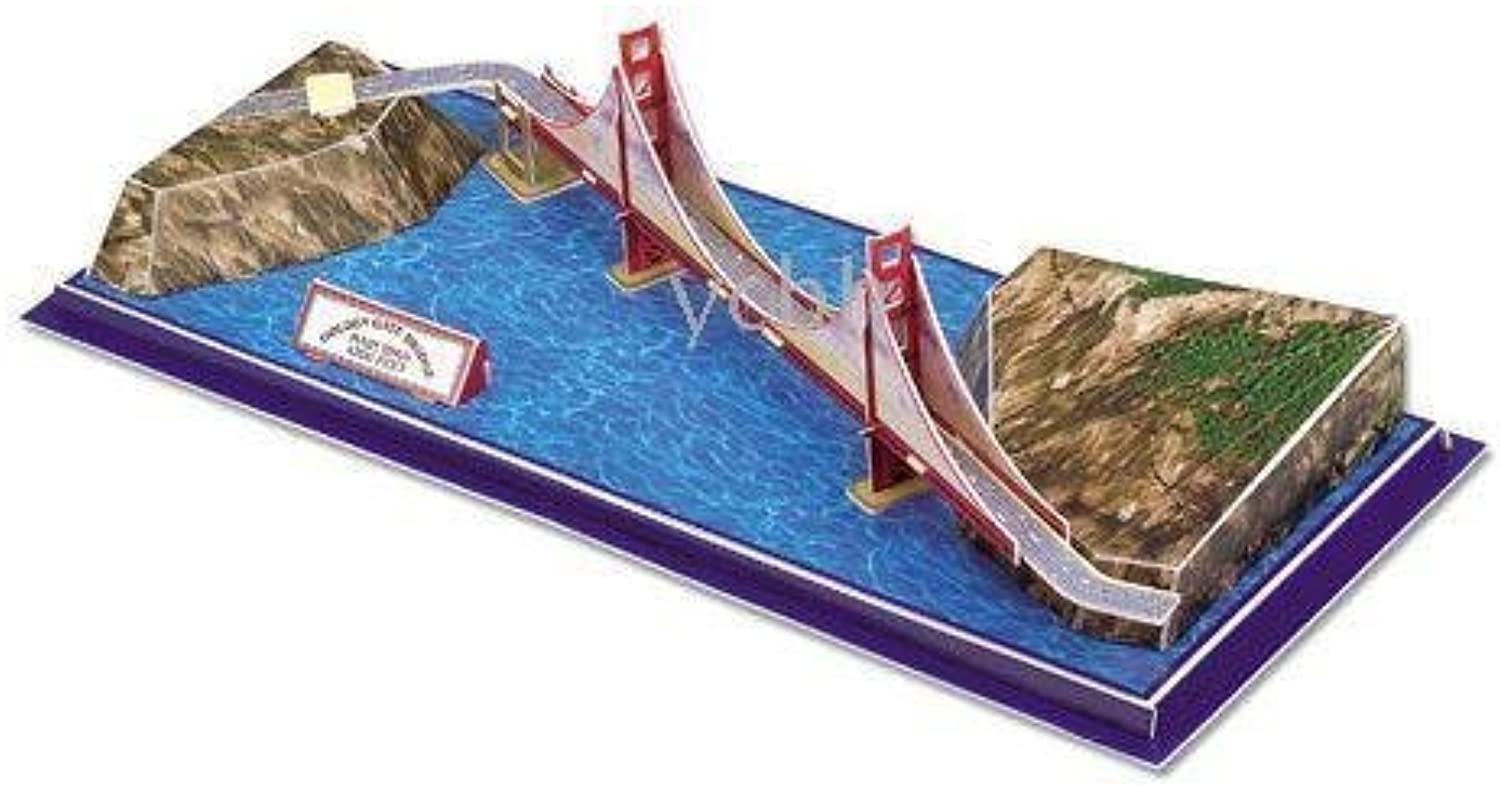 Golden Gate Bridge San Francisco 3D Puzzle, 20 Pieces