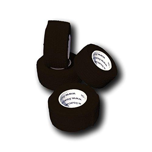 LisaCare Fingerpflaster selbsthaftend - elastisches, wasserfestes, staub- fett- und schmutzabweisendes Pflaster - SCHWARZ - 4 Rollen á 2,5cm x 4,5m