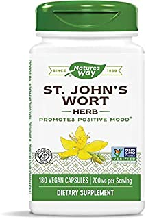 Nature's Way Premium Herbal St. John's Wort Herb 700 mg per capsule, 180 Vegetarian Capsules, Pack of 2