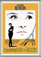 ポスター アーティスト不明 オードリー・ヘプバーン パリの恋人 額装品 アルミ製ハイグレードフレーム(シルバー)