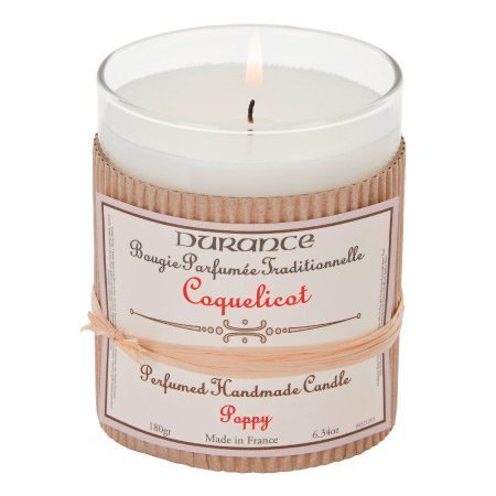 DURANCE Bougie Parfum Coquelicot