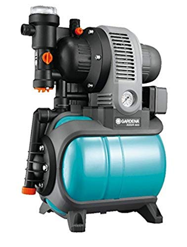 Gardena Classic Hauswasserwerk 3000/4 eco: Hauswasserpumpe mit Thermoschutzschalter, Rückschlagventil, Start/Stop Automatik, 650W Leistung, max. Fördermenge 2800 l/h (1753-20)