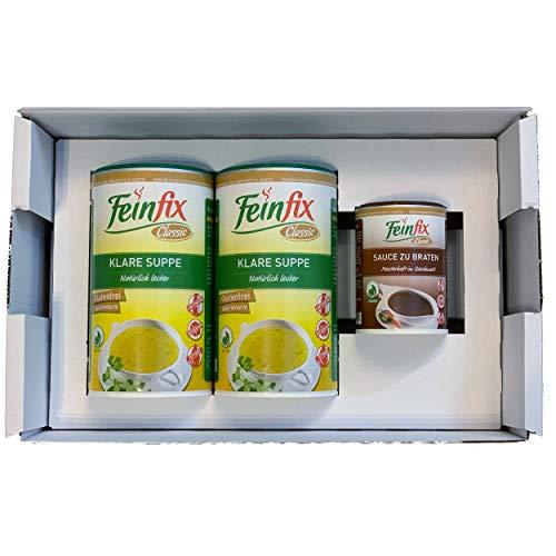 Feinfix Classic 2x Klare Suppe 900g Vorratspackung ( 45 Liter Suppe ) inkl. kleiner Überraschung