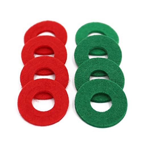 UTSAUTO Battery Terminal Anti Corrosion Washers Fiber 8 Pieces Battery Terminal Protector (4 Red and 4 Green)