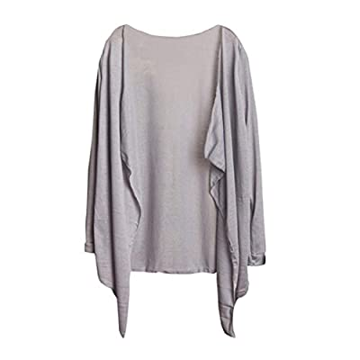 Wintialy Summer Women Long Thin Cover up Cardigan Modal Sun Protection Clothing Tops (Gray) by