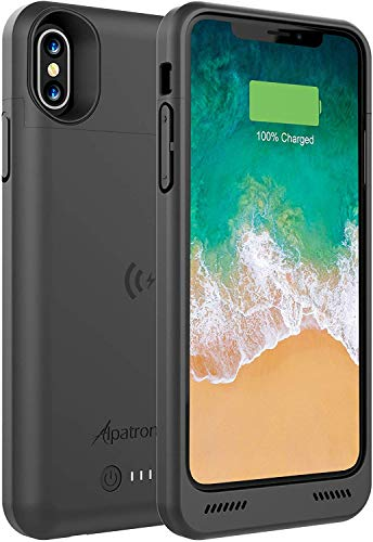 iPhone Xs/X Battery Case, BXXs 4200mAh Slim Portable Protective Extended Charger Cover with Qi Wireless Charging Compatible with iPhone X & iPhone Xs (5.8 inch) - (Black)
