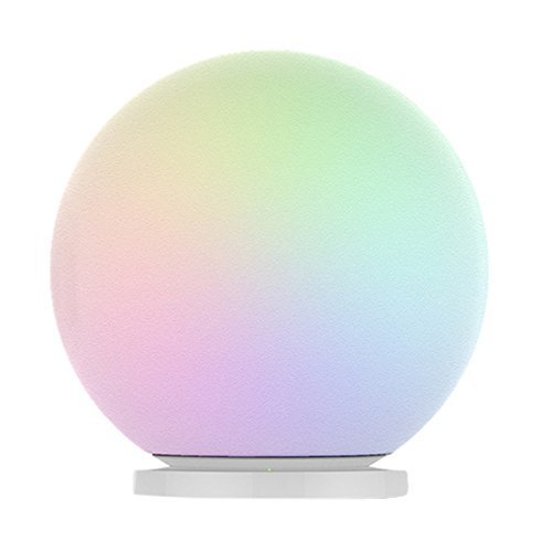 MIPOW PLAYBULB Sphere Bluetooth Smart Color Changing Night Light, Waterproof Touch Sensitive Dimmable LED Glass Orb Bulb with APP control, Wireless Charging Solution, Ideal for Home Bedroom Patio