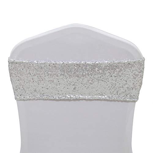 trlyc Spandex Bankettstuhl Pailletten Schärpen wedding-any Größe können jedes Farbe wählen 6x14' chair sash silber