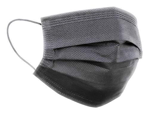 Einwegmaske Schwarz (50, Schwarz), Einmal-Masken-Mundschutz, Einwegmasken Mundschutz, Mund und Nasenschutz, Mundschutz Maske, Maske Schutzmaske, Mund und Nasenschutzmaske, MNS Maske