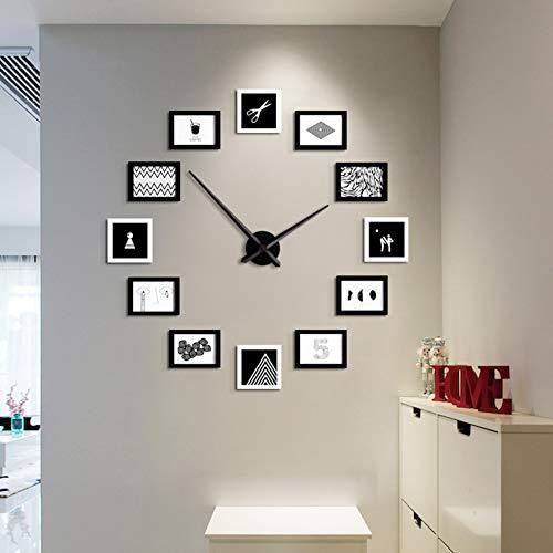 weiwei Orologio da Parete Combinazione, Salotto Creativo Decorazione Orologio Moderno Portafoto Orologio
