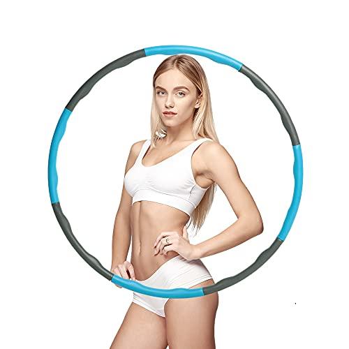 Hula Hoop, Fitness Hula Hoop, Cerchio Fitness Staccabile a 8 Sezioni, Hola Hop Fitness Adulti e Bambini, Ponderato Fitness Hula Hoop per Ginnastica da Dimagrire Ufficio Sport Modellazione Addominale