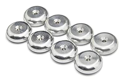 PrecisionGeek - Aluminium Speaker spike pads 20mm DIA Round - Set of 8 pieces from PrecisionGeek