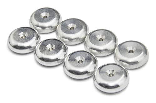 Silber Aluminium Unterlagen für Lautsprecher Spikes / Boxen Spikes. ø 20mm - 8 Stück