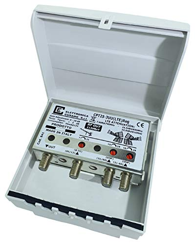 Amplificatore Antenna Tv da Palo con Filtro Lte/4g, Amplificatore Antenna Guadagno Max 28dB Regolabile, Amplificatore Antenna...