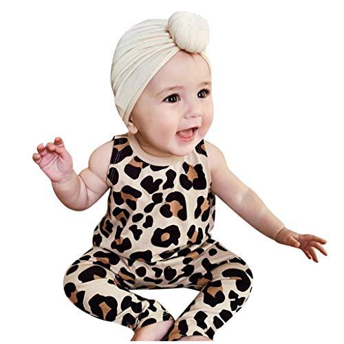 Mamum Enfant en Bas âge bébé Fille Enfants garçons imprimé léopard sans Manches Combinaison Combinaison