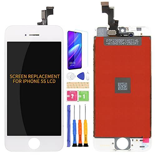 friendlychines para iphone 5S LCD pantalla táctil digitalizador cristal repuesto Sensor de blanco y negro