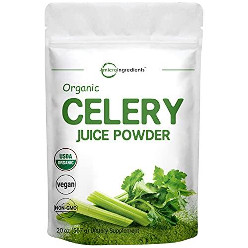 Micro Ingredients Organic Celery Juice Powder, 20 Ounce (1.25 Pound),...