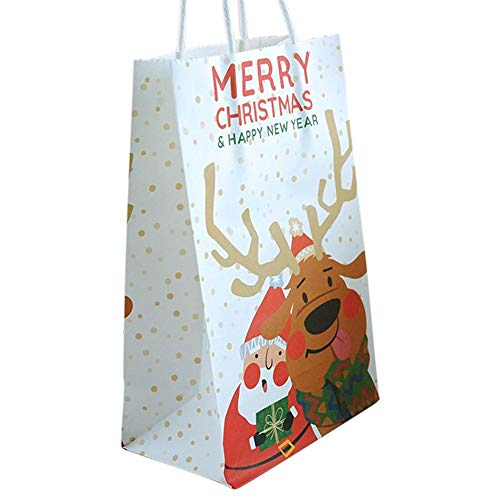 Findema 10pcs Beutel, kleine Papiergeschenk-Beutel, Einkaufstasche, Kraftpapier-Beutel, Party-Beutel, Baum-Sternchen-Vereinbarung Geschenk-Süßigkeit-Beutel