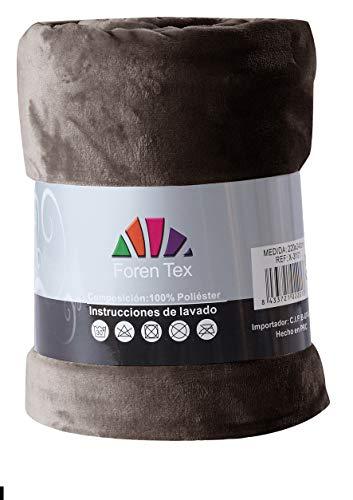 Foren Tex - Manta de sedalina, (X-3095), Ultra Suave, microseda, para abrigarte con Estilo y Confort, 220 x 240 cm No Suelta Pelo. para sofá y Cama.