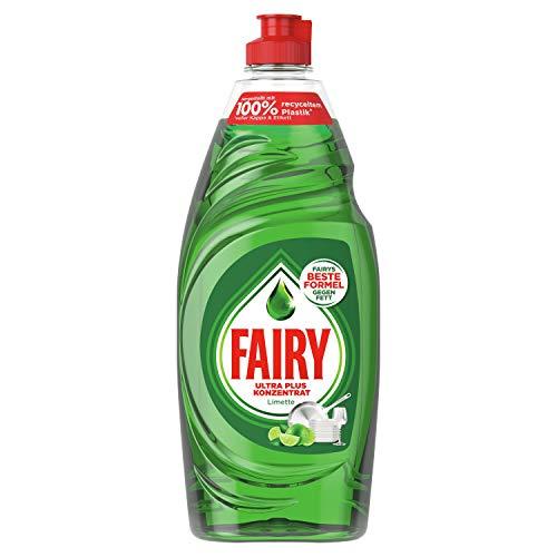 Fairy Ultra Plus Konzentrat Limette Handgeschirrspülmittel 625ML mit effektiver Formel für perfekt sauberes Geschirr, beeindruckende Fettlösekraft