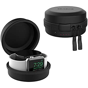 Smatree Charging Case Compatible for Apple Watch Series 5/6/SE - Original Charging Cable & Apple Watch NOT Included (Black) - Patent Pending